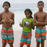Young surfers featured in GOMA's new documentary