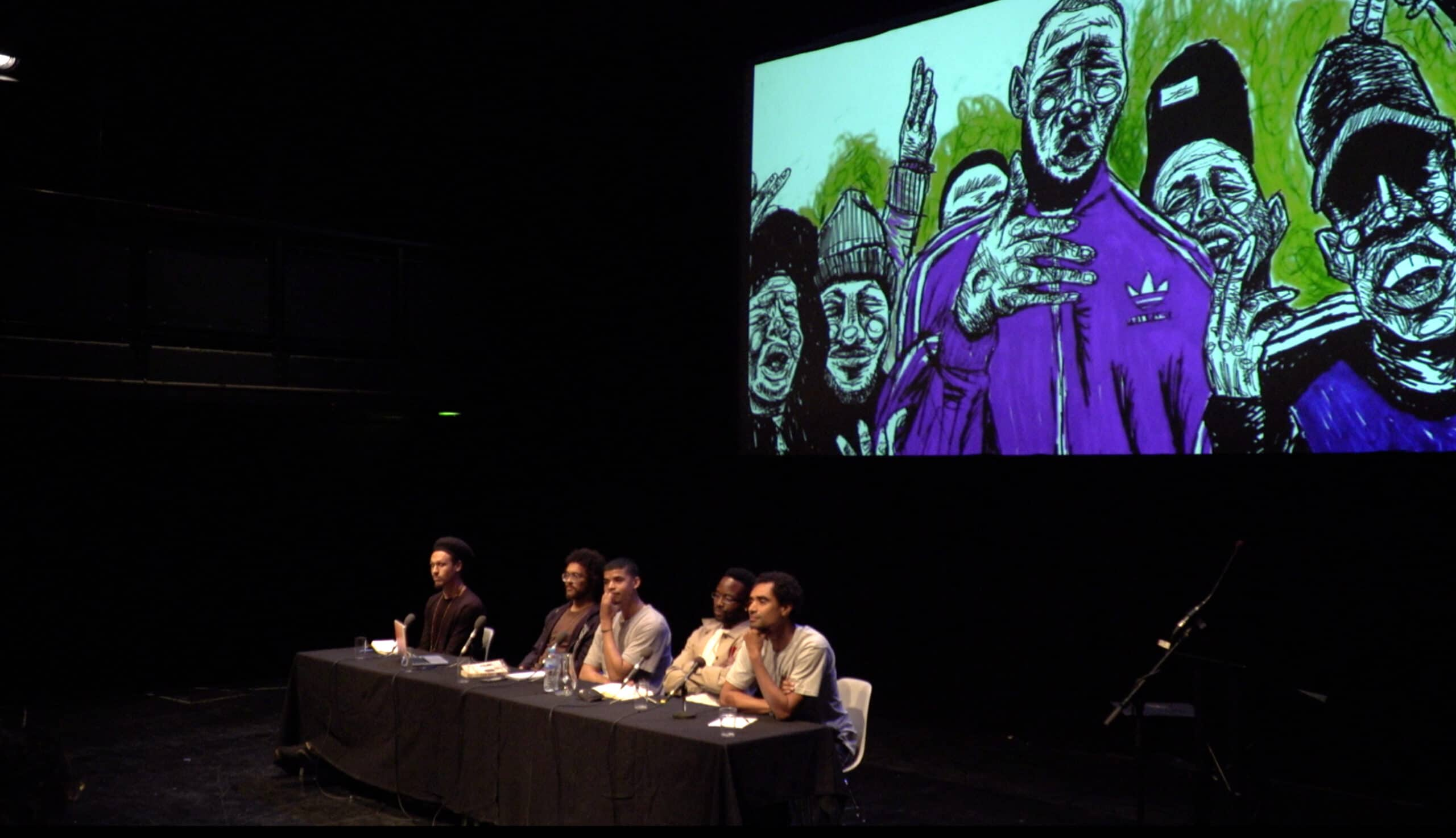 Still image from the 'Do Mandem Need Feminism?' event at the Arnolfini in Bristol