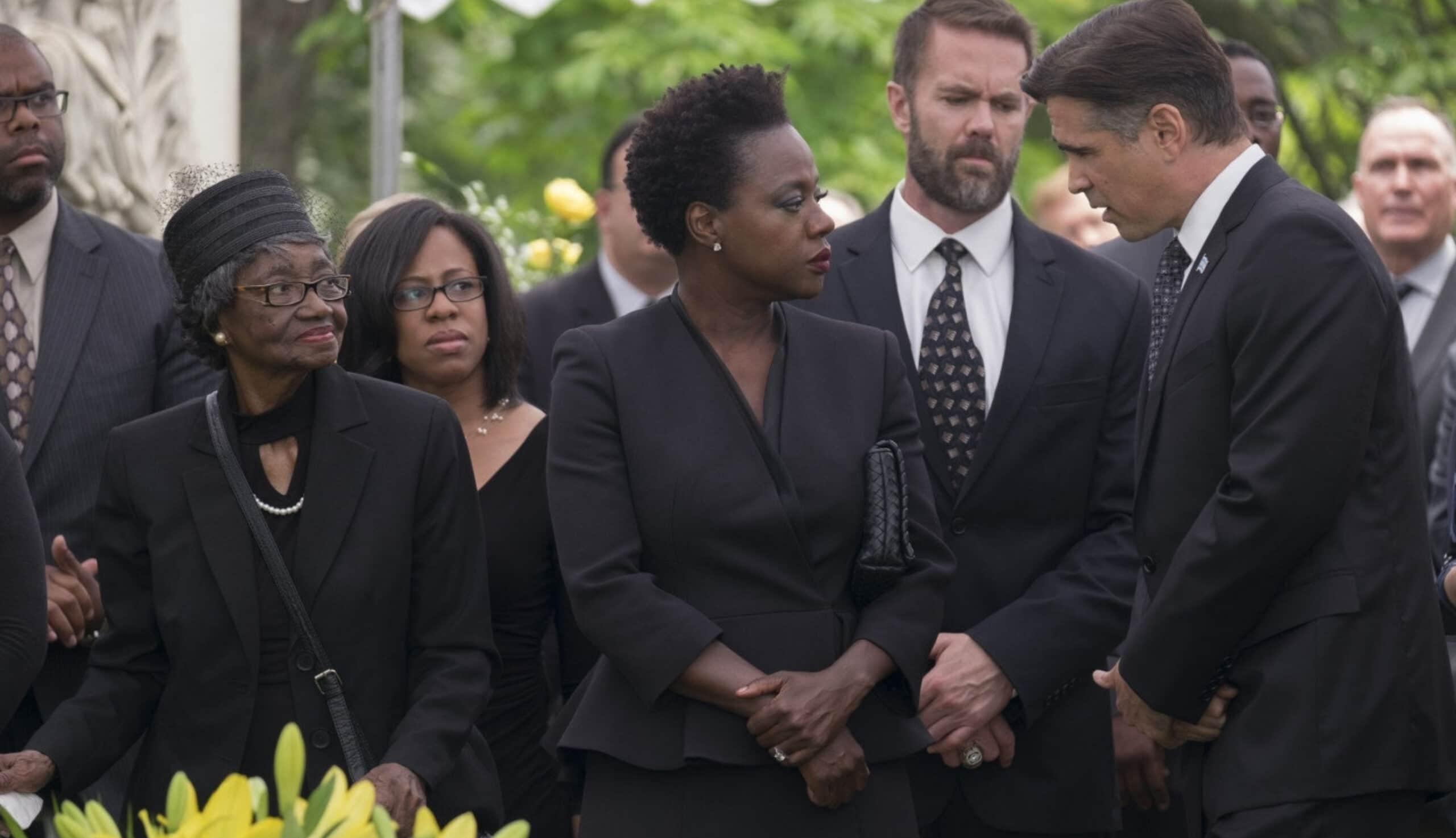 Viola Davis and Colin Farrell in Widows (2018)
