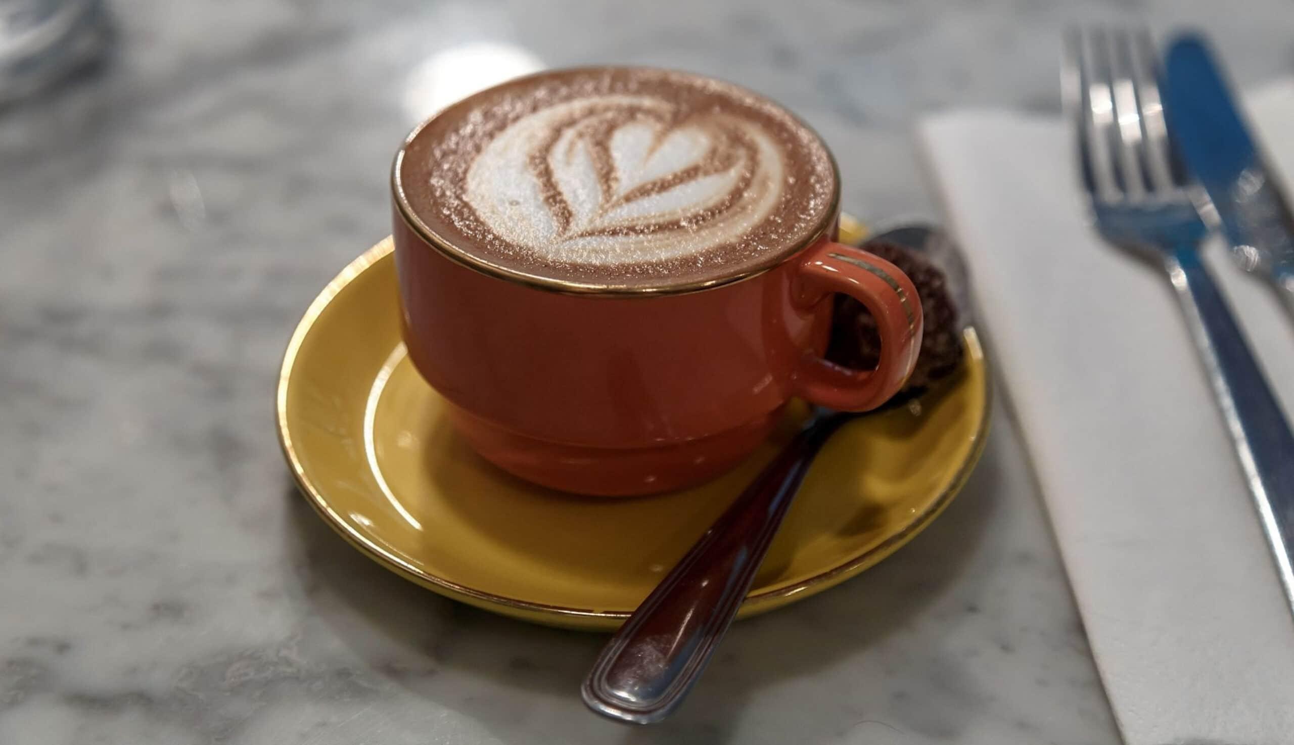 Soya Flat White Coffee - Wikicommons