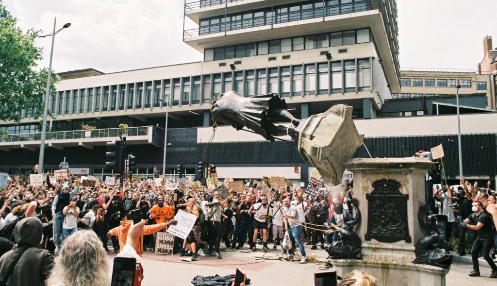Colston statue falls in Bristol